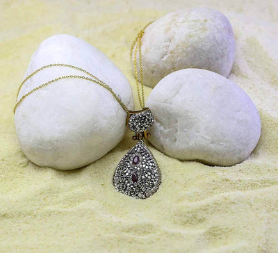 Buy Sterling Silver Drop Women Pendants Online in Pakistan