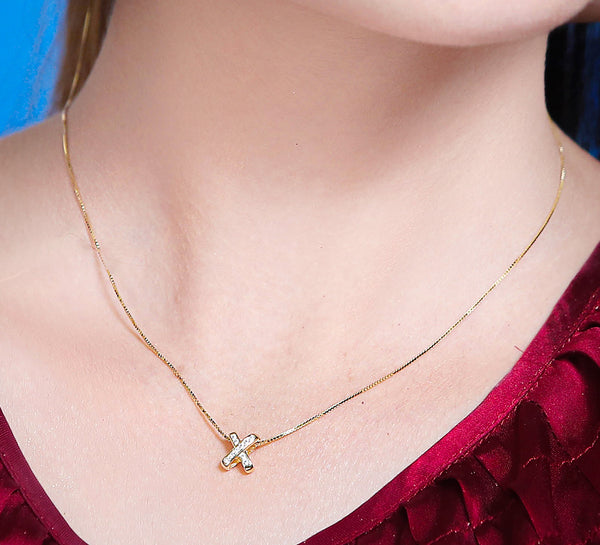 Golden Cross Sterling Silver Pendant