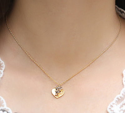 Golden Heart Key Pendant