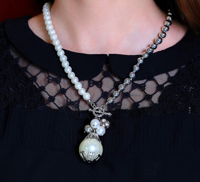 Paved Pearl Pendant
