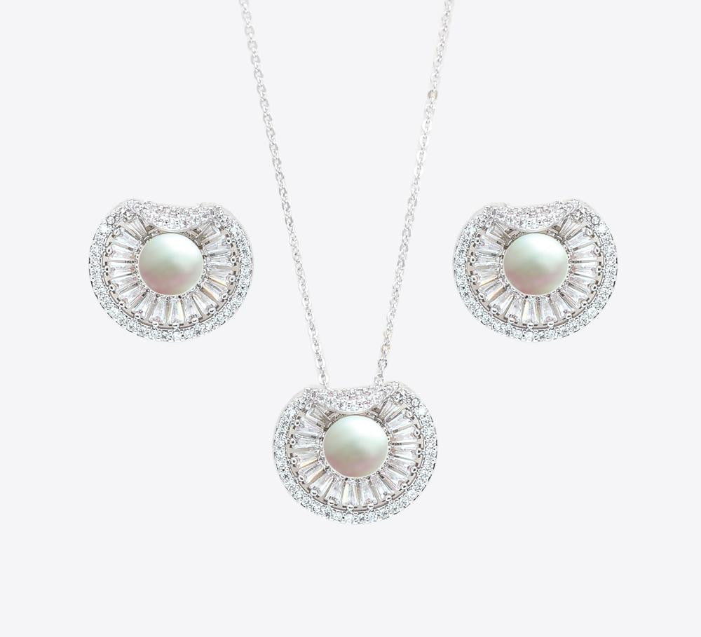 Buy Silver Pearl Women Pendant Sets Online In Pakistan