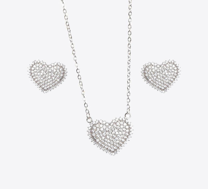 Buy Silver Heart Women Pendant Sets Online In Pakistan