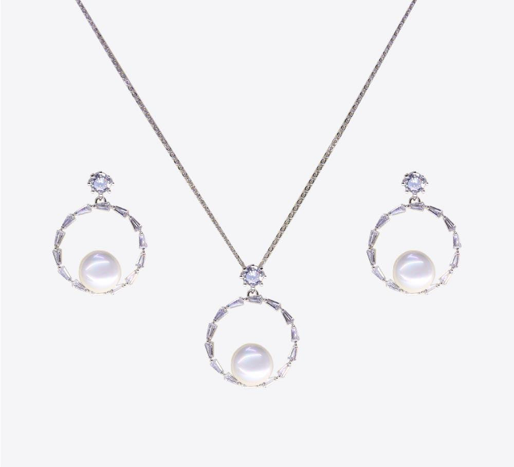 Buy Silver Pearl Pendant Sets Online In Pakistan