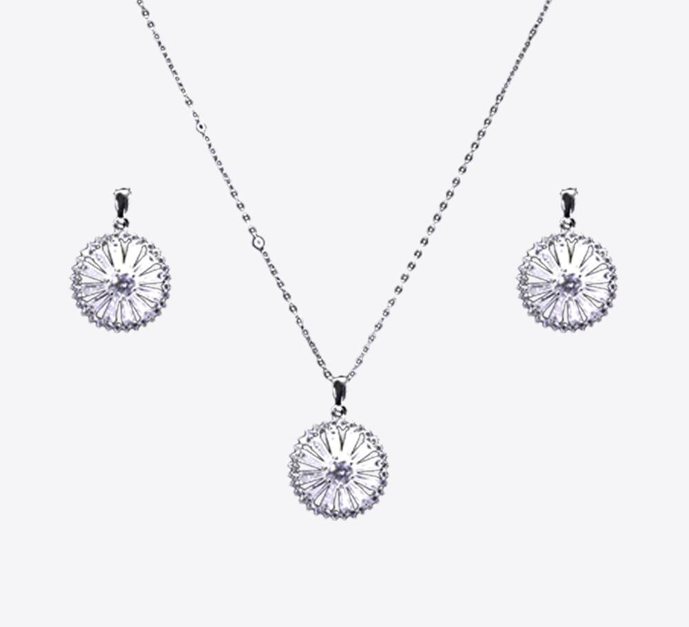 Buy Silver Wheel Pendant Sets Online In Pakistan