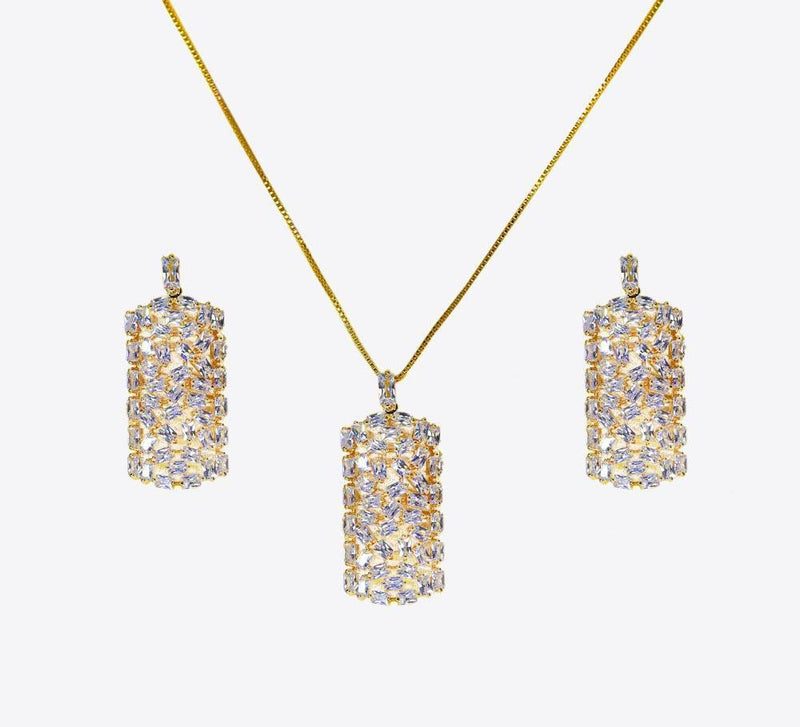 Buy Golden Women Pendant Sets Online In Pakistan