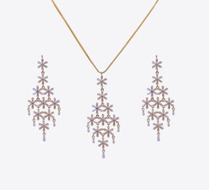 Buy Golden Crystal Women Pendant Sets Online In Pakistan
