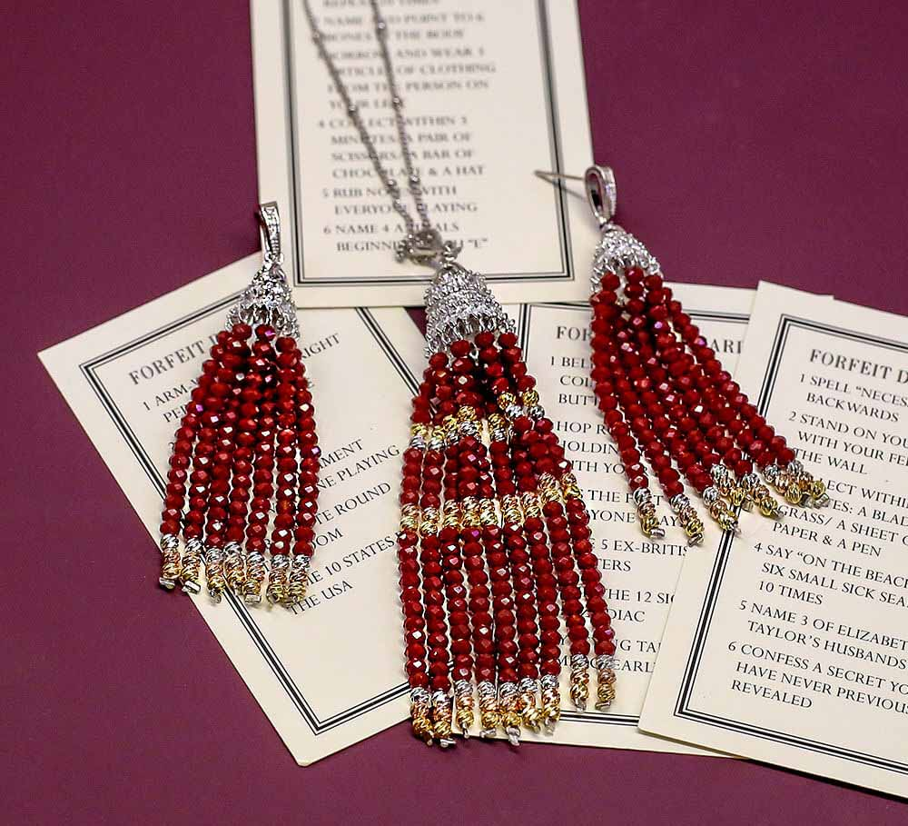 Buy Red Beads Women Pendant Sets Online in Pakistan