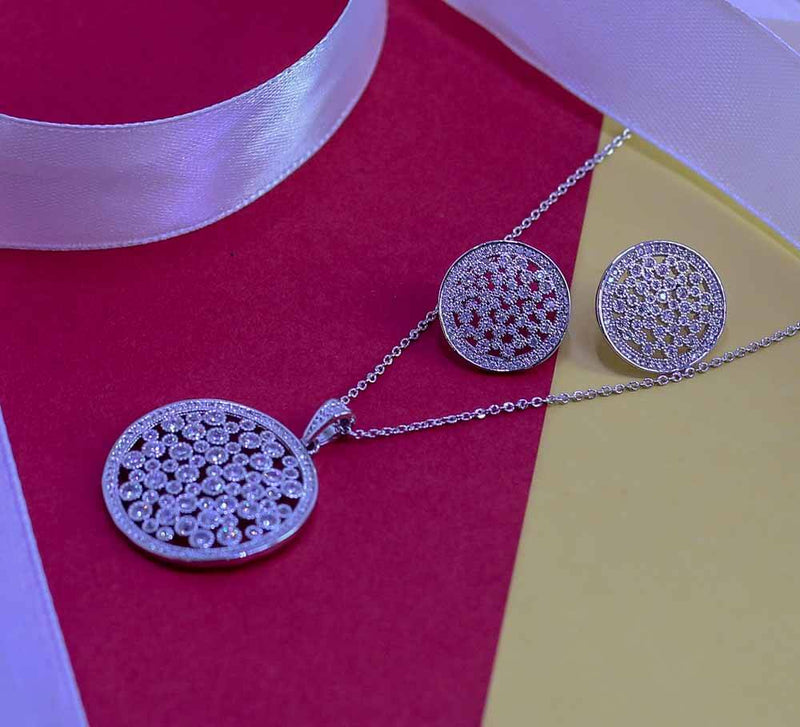 Buy Silver Coin Women Pendant Sets Online In Pakistan