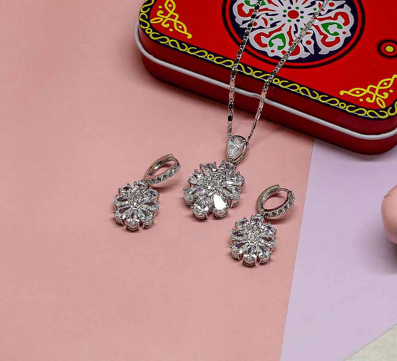 Buy Silver Pendant Set Online in Pakistan