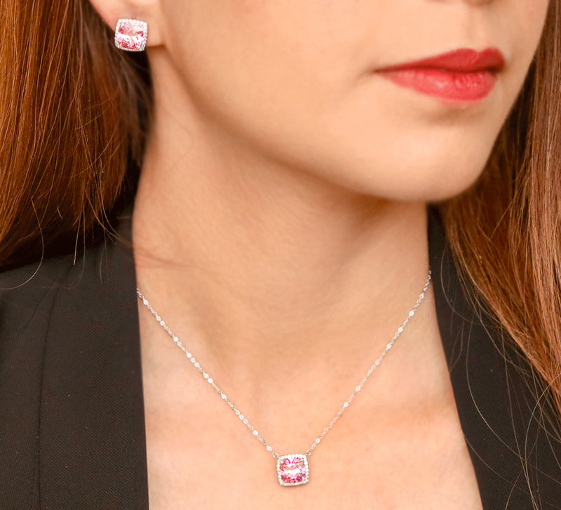 Buy Stylish Pink Pendant Set Online In Pakistan