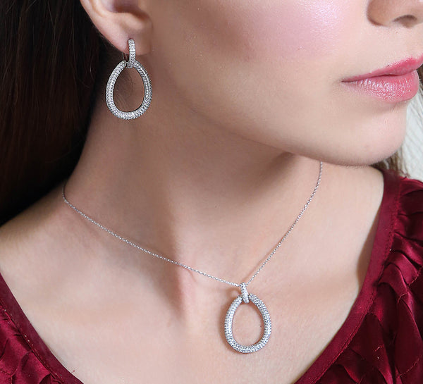 Pendant Set with Ring - Sterling Silver