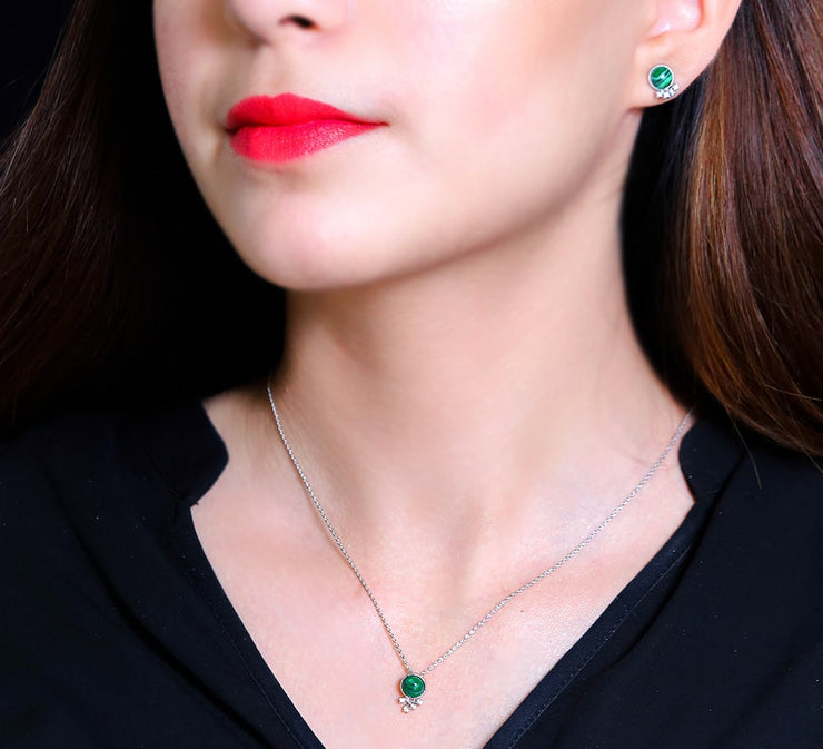 Green Pendant Set