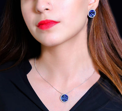 Blue Pendant Set