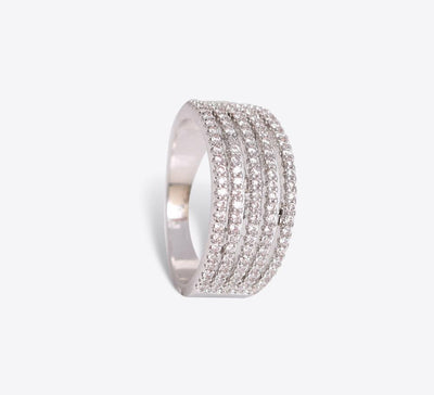 Buy Silver Pave Ring Online In Pakistan - Mahroze