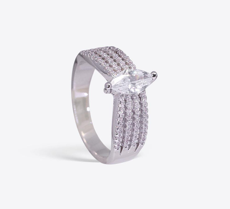 Buy Silver Stone Cocktail Women Rings Online In Pakistan