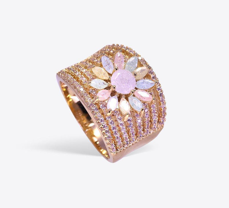 Buy Women Multicolour Stones Ring Online In Pakistan