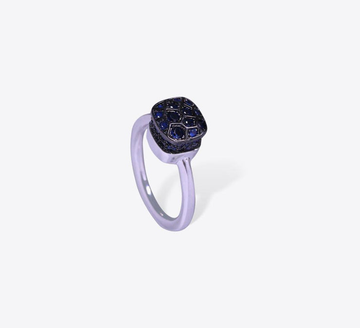 Buy Blue Honey Comb Silver Rings Online In Pakistan