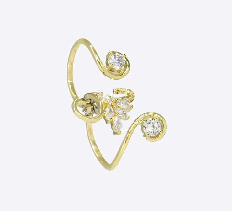 Buy Golden Two Finger Women Rings Online In Pakistan