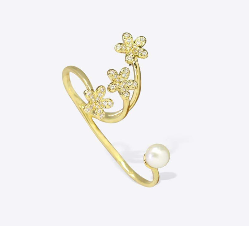 Buy Pearl Two Finger Women Rings Online In Pakistan