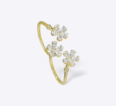 Buy Floral Two Finger Women Rings Online In Pakistan