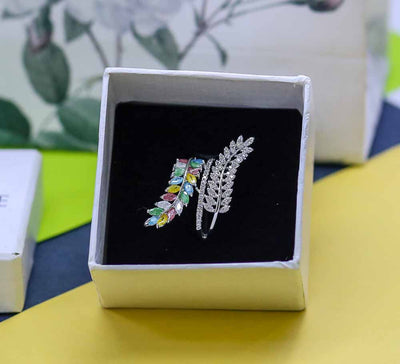 Buy Wheat Leaf Sparkling Women Rings Online In Pakistan