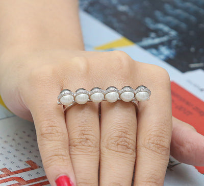 Day to Night Two Finger Ring – Silver