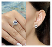 Cocktail Ring & Stud Earring