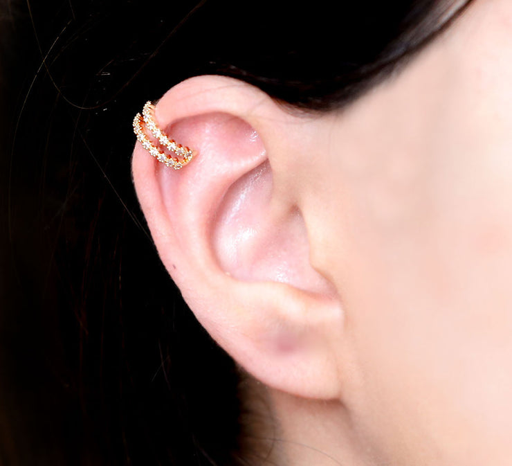 Creeped Ear Cuffs – Golden