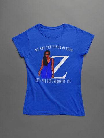We Are Finer Queens Blue Shirt
