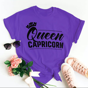 QUEEN CAPRICORN T-SHIRT - Gray's Active Wear Printing