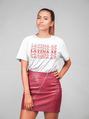 LATINA AF TSHIRT - Gray's Active Wear Printing