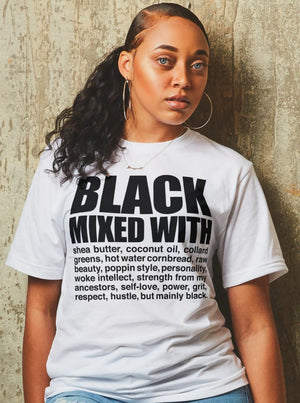 BLACK MIXED WITH TSHIRT! PROUD BLACK WOMAN TEES TODAY! - Gray's Active Wear Printing