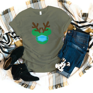 REINDEER MICKEY INSPIRED CHRISTMAS T-SHIRT - Gray's Active Wear Printing