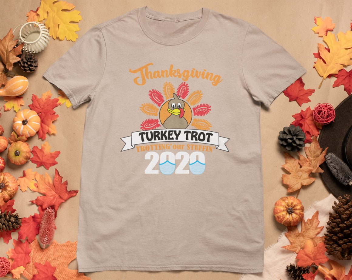 THANKSGIVING TROT T-SHIRT - Gray's Active Wear Printing