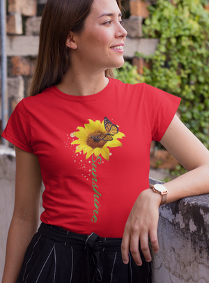 SUNSHINE SUNFLOWER TSHIRT - Gray's Active Wear Printing