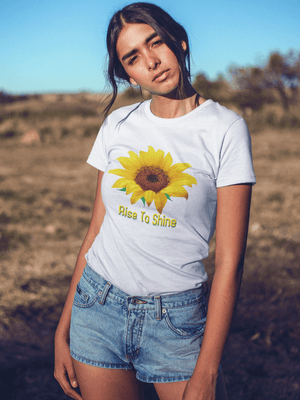RISE TO SHINE TSHIRT - Gray's Active Wear Printing