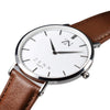 ZENN Classique Silver Watch Brown Leather