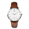 ZENN Classique Brown Silver Watch