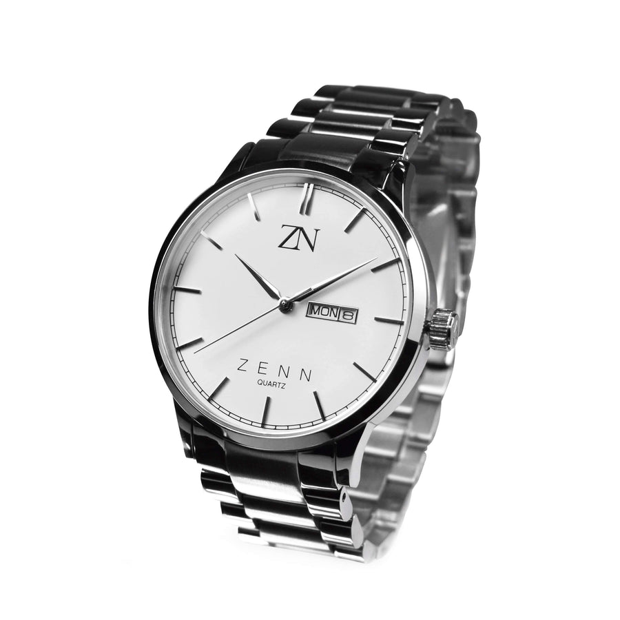 ZENN Argenti Watch Silver Luxury White Dial
