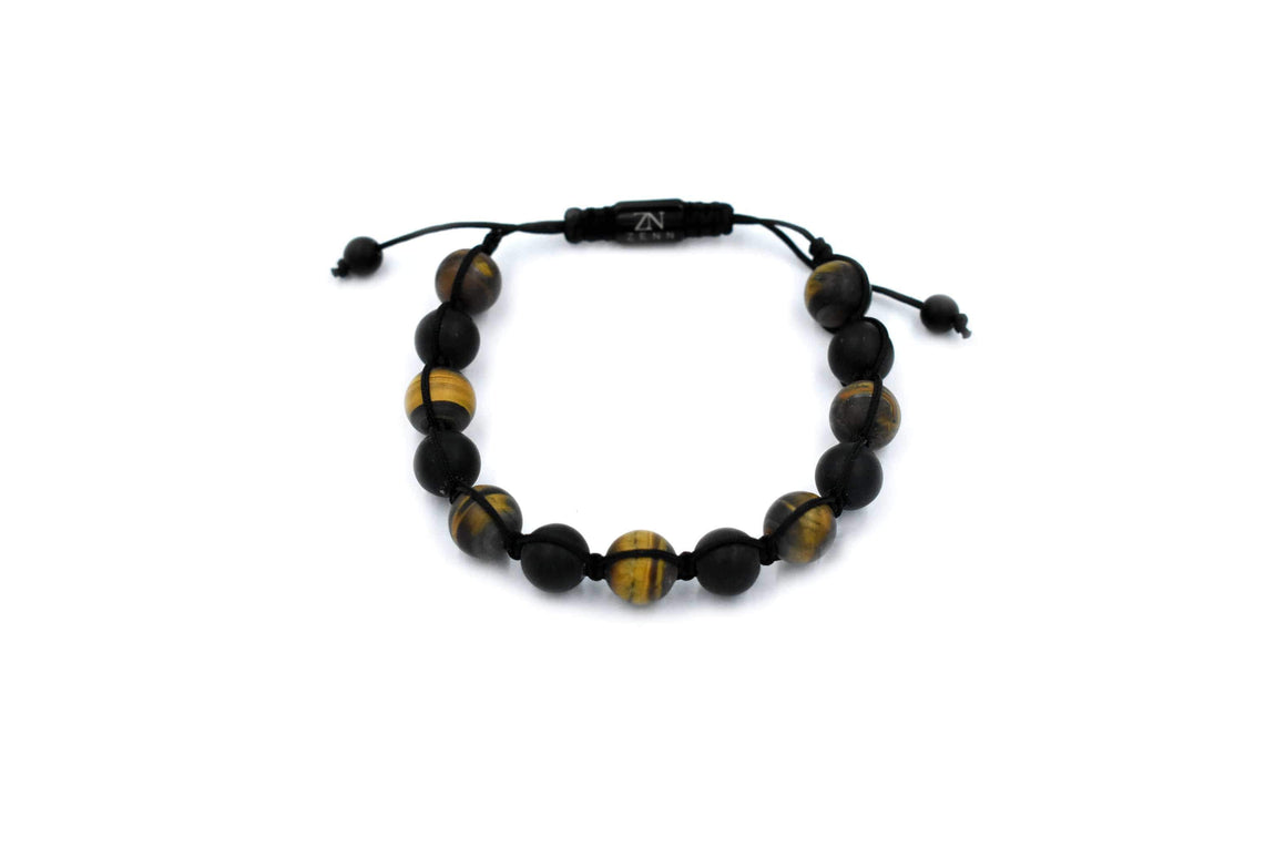 ZENN Wood Tiger Eye Macrame Bracelet