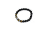 ZENN Tiger Hex Silver Beaded Bracelet