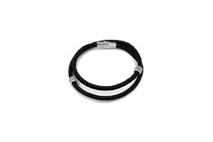 ZENN Black Leather Bracelet