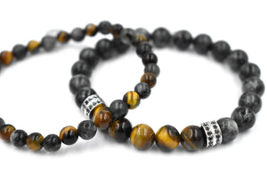 ZENN Twin Set Grey Beaded Bracelet