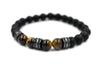 ZENN Tiger Circ Black Beaded Bracelet