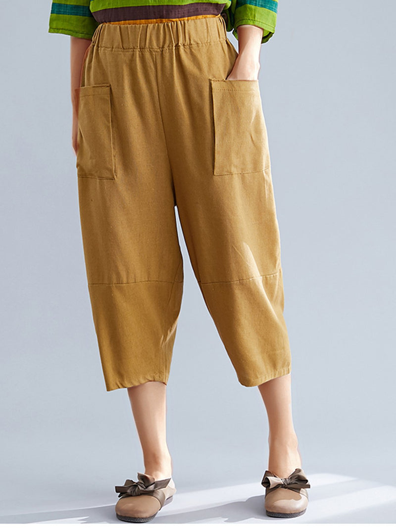 Women Plain Casual Pants