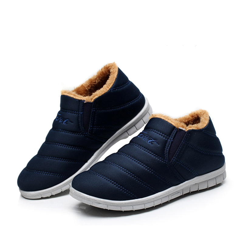Dark Blue Women Fleece-lined Ankle Snow Boots