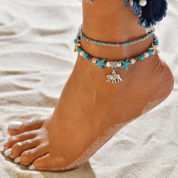 Stars Boho Holiday Beach Anklet