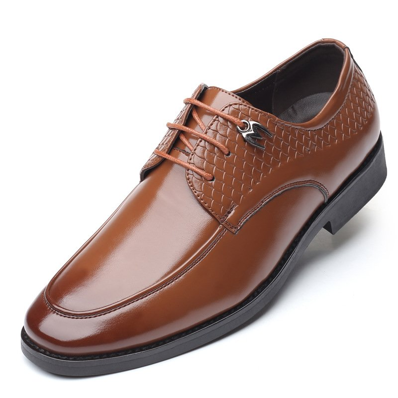 Men Formal Shoe Casual Pattern Slip On Soft Business Oxfords