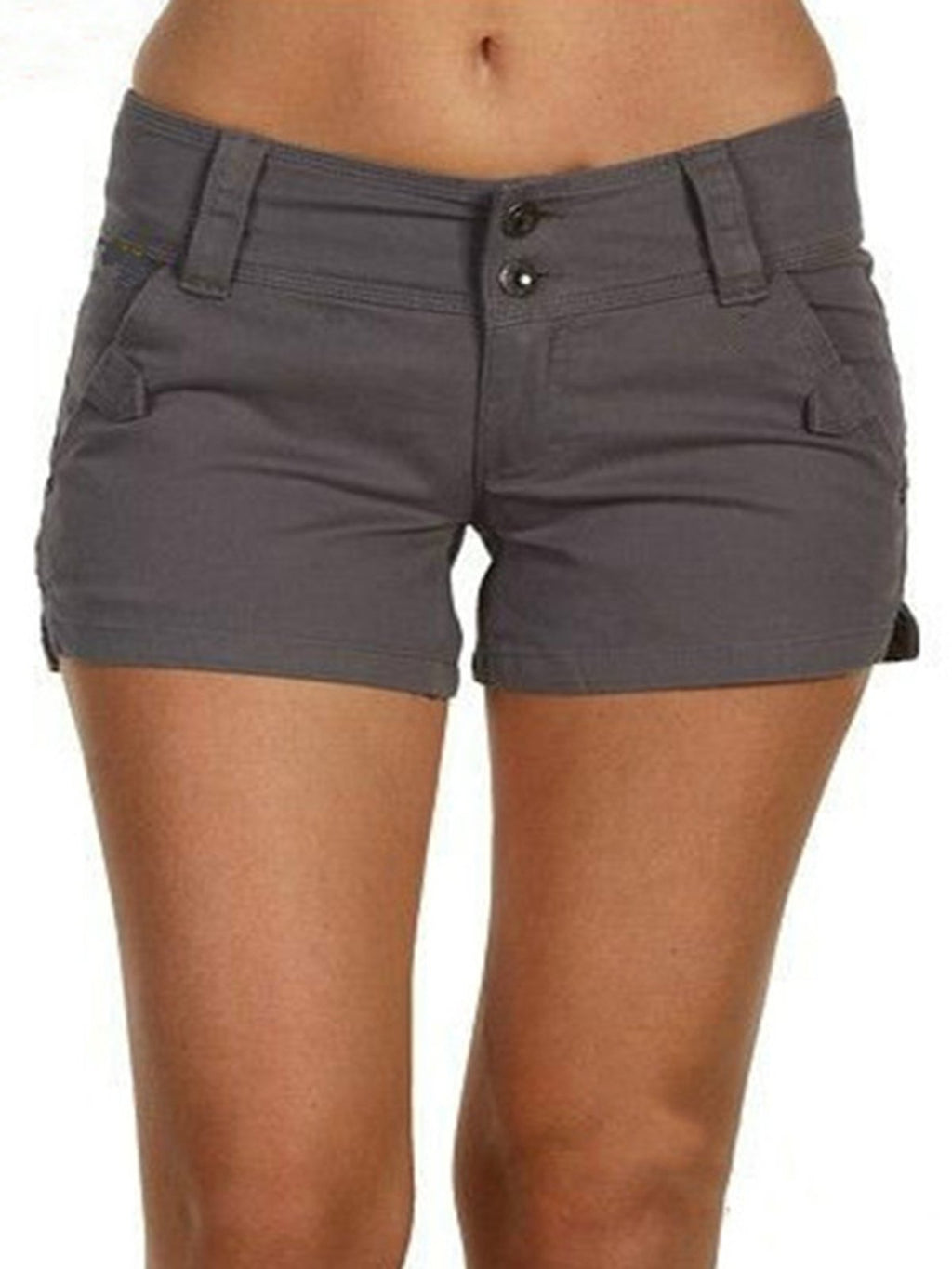 Plus Size Women Summer Shorts With Pockets
