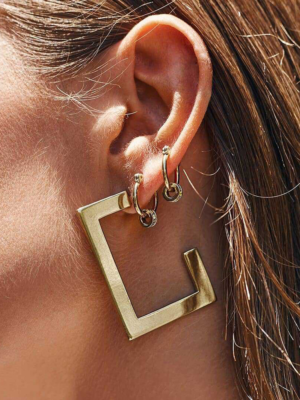 Exaggerated Fashion Geometric Metal Women's Earrings